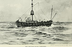 MV Mi Amigo - The Kentish Knock Lightship as published in Studies in Bird Migration (1912) by William Eagle Clarke.