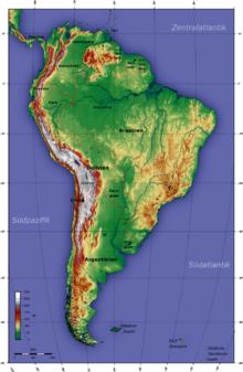 Lateinamerika Karte Gebirge.Südamerika Wikipedia