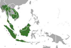 Sunda pangolin - Image: Sunda Pangolin area