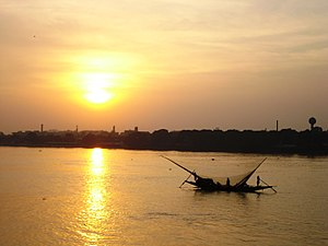 Hooghly River - Sunset at River Hooghly, Kolkata, West Bengal, India