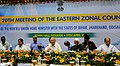 Sushil Kumar Shinde chairing the 20th Meeting of the Eastern Zonal Council, at Kolkata on April 17, 2013. The Governor of Jharkhand, Dr. Syed Ahmed and the Chief Minister of West Bengal, Kumari Mamata Banerjee are also seen.jpg