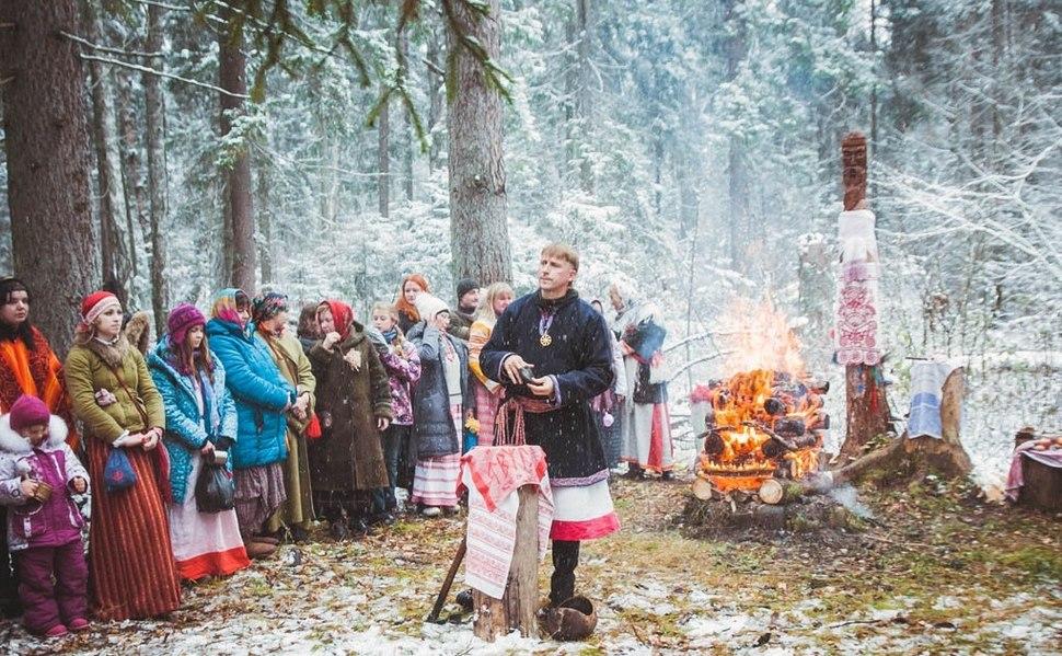 Svetoary community celebrating Mokosh 2016