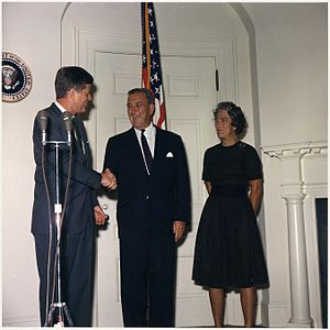 Chester Bowles - Bowles at his 1961 swearing in as President Kennedy's Special Representative.