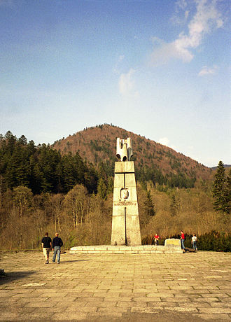 Karol Świerczewski - Świerczewski's monument near his place of death, in Bieszczady mountains
