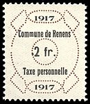Switzerland Renens 1917 revenue 6 2Fr - 42.jpg
