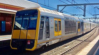 Sydney Trains T set class of electric multiple unit operating in Sydney, New South Wales, Australia