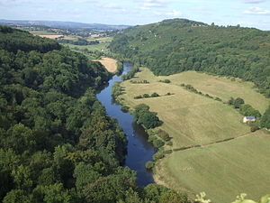 Forest of Dean - The view north towards Ross-on-Wye from Symonds Yat Rock, a popular tourist destination in the Forest