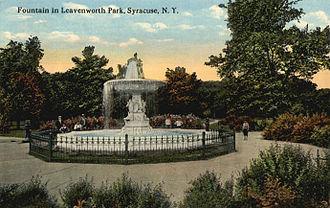 Elias W. Leavenworth - Leavenworth Park in Syracuse, New York. Postcard, 1910