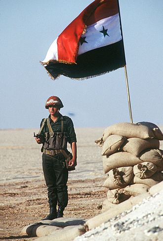 Syrian Armed Forces - A Syrian military policeman during the Persian Gulf War.