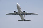 T'way Airlines Boeing 737-8KG HL8235 Taking off from Taipei Songshan Airport 20150427a.jpg