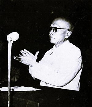 Vietnamese Fatherland Front - Tôn Đức Thắng giving the opening speech at the founding of the Vietnamese Fatherland Front in 1955