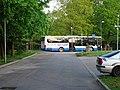 Třeboň, Komenského sady, autobus na Jiráskově ulici.jpg