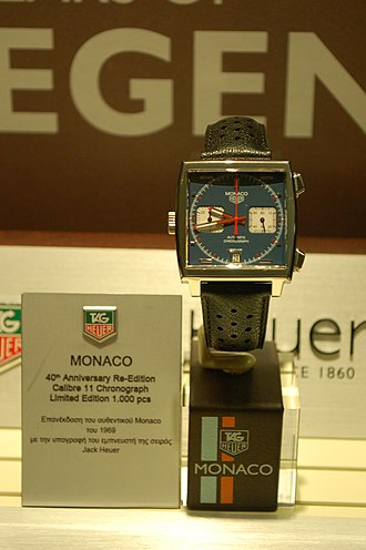 TAG Heuer - The Heuer Monaco 40th Anniversary re-edition with Calibre 11 (2009) is a limited-edition, contemporary replica of the original 1969 Heuer Monaco.