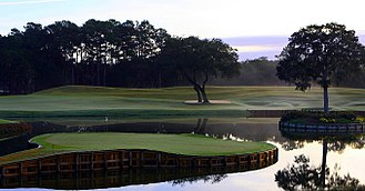 TPC at Sawgrass - Stadium Course's signature 17th hole in 2008