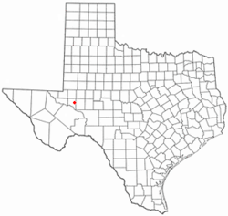 Location of Crane, Texas