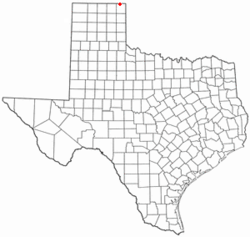 Location of Darrouzett, Texas