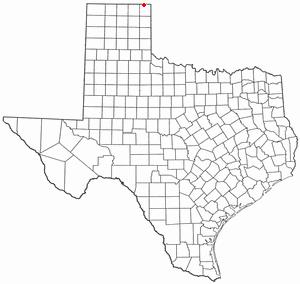 Darrouzett, Texas - Image: TX Map doton Darrouzett