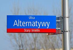 Tablica MSI ulica Alternatywy w Warszawie