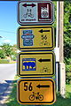 Tablice tras rowerowych w Jabłonkowie.JPG
