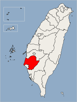 Location of Tainan