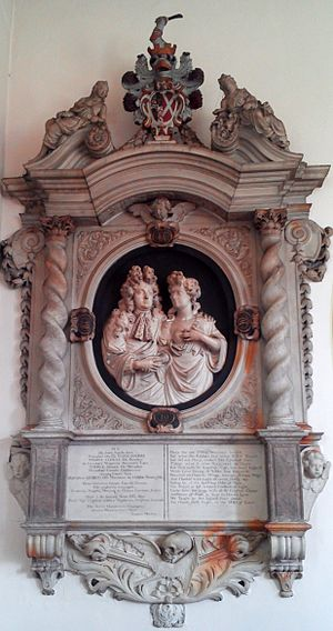 Sir Thomas Cookes, 2nd Baronet - Memorial to Sir Thomas Cookes (d. 1701) and his first wife Mary (née Windsor, d. 1693) in St Bartholomew's Church, Tardebigge