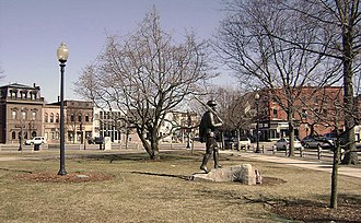 Taunton Green Historic District - Taunton Green, looking east toward Main Street