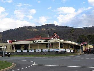 Tawonga, Victoria - The Bogong Hotel at Tawonga (destroyed by fire in 2011)
