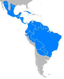 Tayassu tacaju distribution map.PNG