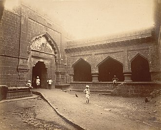 Panhala Fort - Inner gate of Teen darwaza c. 1894, Panhala fort