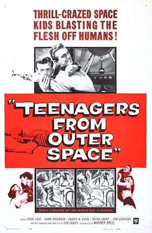 Teenagers from Outer Space - Theatrical release poster by Reynold Brown