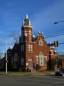 Temple B'Nai Sholom in Huntsville, established in 1876. It is the oldest synagogue building in continuous use in the state. Temple B'Nai Shalom Dec2009 01.jpg