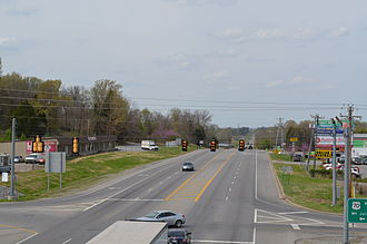 Martha, Tennessee - Martha as seen from U.S. Route 70.