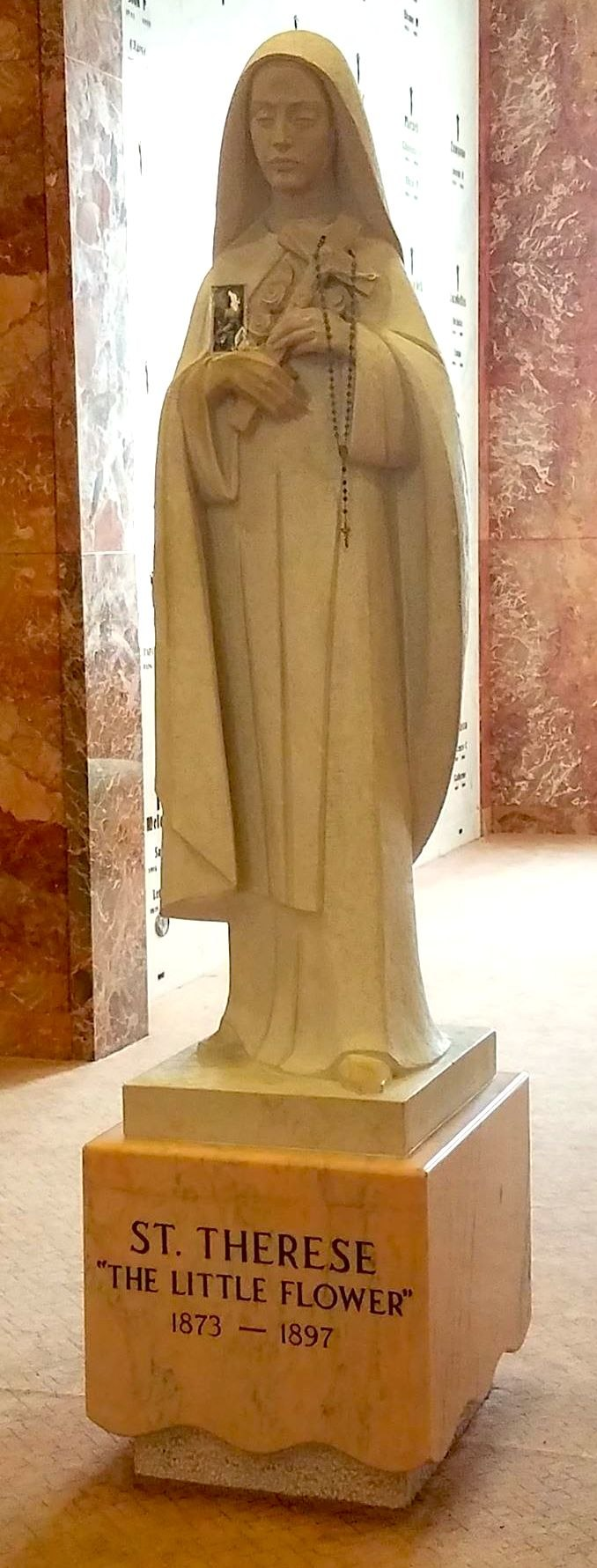 Thérèse of Lisieux, statue at the Community Mausoleum of All Saints Cemetery, Des Plaines, Illinois