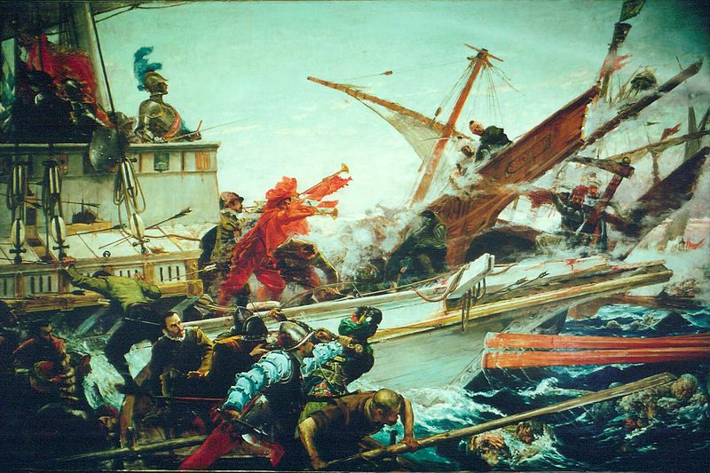 The Battle of Lepanto of 1571 full version by Juan Luna.jpg