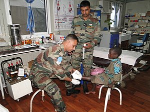 Indian Army United Nations peacekeeping missions - Image: The Blue Berets, We Care (15847021980)