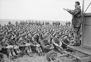 Richard Gale (British Army officer) - Major General Richard Gale, GOC 6th Airborne Division, addresses his men, 4 June 1944.