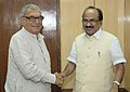 The Chief Minister of Haryana, Shri Bhupinder Singh Hooda meeting the Minister of State (Independent Charge) for Consumer Affairs, Food and Public Distribution, Professor K.V. Thomas, in New Delhi on October 31, 2011.jpg