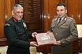 The Chief of Army Staff, General Bipin Rawat presenting the Indian Army Coffee Table Book to the Chief of General Staff, Armed Forces of the Kyrgyz Republic, General Raimberdi Duishenbiyev, in New Delhi on November 27, 2017.jpg