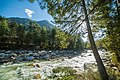 The Fast Flowing Parvati River on the banks of Kasol, Himachal Pradesh.jpg