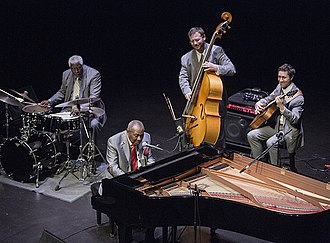 Freddy Cole - The Freddy Cole Quartet with Curtis Boyd drums, Elias Bailey bass, and Randy Napoleon guitar