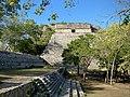 The Grand Pyramid or Uxmal Pyramid Number Two. La Gran Piramide, Zona Arqueológica de Uxmal, Yucatan, Mexico.jpg