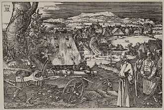 "Ottoman–Habsburg wars - ""The Great Gun"" (1518), an allegorical representation by Albrecht Dürer of the Turkish menace for the German lands"