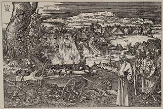 "Ottoman–Habsburg wars - ""The Great Gun"" (1518), an allegorical representation by Albrecht Dürer of the Turkish menace for the German lands"