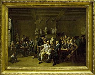 Group portrait of the drawing academy in Haarlem