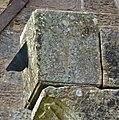 The Kilmaurs Glencairn Aisle sundial's gnomen. East Ayrshire.jpg