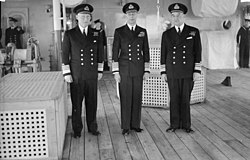The King Pays 4-day Visit To the Home Fleet. 18 To 21 February 1943, Scapa Flow, Wearing the Uniform of An Admiral of the Fleet, the King Paid a Four Day Visit To the Home Fleet. A15205.jpg