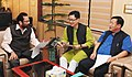 The Minister of State for Home Affairs, Shri Kiren Rijiju meeting the Minister of State for Minority Affairs (Independent Charge) and Parliamentary Affairs, Shri Mukhtar Abbas Naqvi, in New Delhi on October 26, 2016.jpg