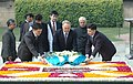 The President of the Republic of Kazakhstan, Mr. Nursultan Nazarbayev laying wreath at the Samadhi of Mahatma Gandhi at Rajghat, in Delhi on January 24, 2009.jpg
