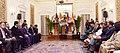 The Prime Minister, Shri Narendra Modi and the Prime Minister of the Kingdom of Cambodia, Mr. Samdech Akka Moha Sena Padei Techo Hun Sen at the Press Statement, at Hyderabad House, in New Delhi on January 27, 2018 (1).jpg