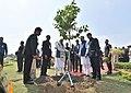 The Prime Minister, Shri Narendra Modi planting a sapling at the inauguration of the Nandan Van Jungle Safari, at Naya Raipur, Chhattisgarh.jpg